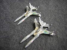Battletech / Aerotech Ral Partha Samurai SL-25 Fighters x2 - Unseen, Metal (3)