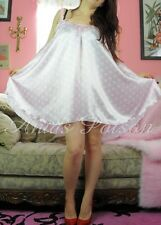 "Pink Polka Dot Babydoll mini sweeping 120"" night gown nightie dress Sissy Pantie"