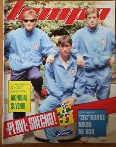 Magazine TEMPO 1267 football Dragan Stojkovic Yugoslavia team FIFA WC Italy 1990
