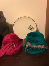 Vintage Ladies Hats Mr. Josephs New York Brigadoon-Pirouette-Faux Fur- Hat Box