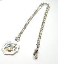 """Antique Sterling Silver Albert Watch Chain 16""""  Birmingham 1900"""