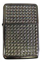 Silver Diamante Star Petrol Lighter In Gift Tin