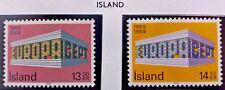 2 X Timbre Stamp Islande  1969 YT 383 384 EUROPA CEPT Neufs