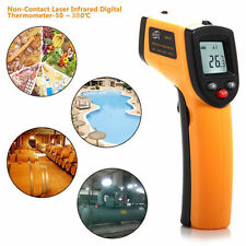 Laser LCD IR Infrared Digital Thermometer Heat Meter Temperature Measuring Gun F