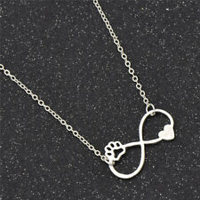 Cute Animal Dog Paw Heart Pendnat Necklace Lover Wedding Jewelry Women Girl Gift