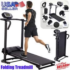 Folding Treadmill Running Mechanical Sit-Up Machine Home Incline Jogging Fitness