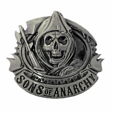 Sons of Anarchy belt buckle with pewter finish  suitable for 4cm width belt