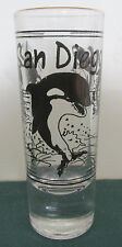 San Diego Gold Rim Killer Whales 4 Inch Shot Glass