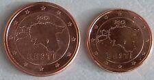 1+2 Euro Cent Estland 2012 unz