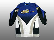 Vintage Old-School Vigor BMX Long-Sleeve Jersey Freestyle Cycling Blue/White