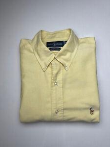 Ralph Lauren  Mens  16 1/2 35 Dress Shirt Yellow  Button Down Shirt