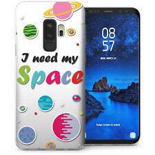 Samsung Galaxy S9 Plus Case, I Need My Space Cartoon TPU Gel Soft Cover Clear UK