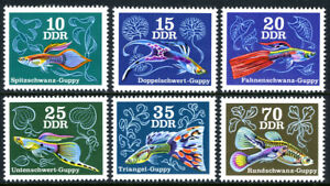 Germany DDR/GDR 1769-1774, MNH. Various Guppies, 1976