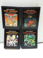 Lot of 4 Atari 2600 Games~Yars Revenge~ Star Raiders~Demons to Diamonds~Missile