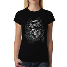 Dead Girl Skull Women T-shirt XS-3XL New