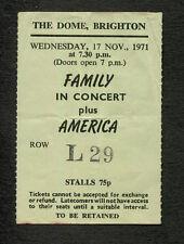 Original and Rare 1971 America Concert Ticket Stub Brighton A Horse With No Name