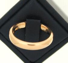 22ct Rose Gold D Shape Wedding Ring size K 1956