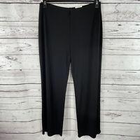 Alfani Womens Plus SZ 0X-Large Dress Pants Wide Leg Stretch Elastic Waist Black