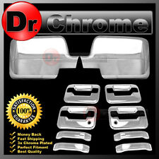 04-08 Ford F150 Chrome Mirror+4 Door Handle+no keypad+PSG keyhole Cover COMBO