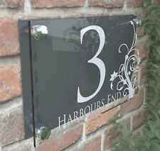 Clear Acrylic House Sign Modern Decorative Door Number Name Plaques Dec4-28WA