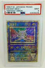 Pokemon Japanese 1999 Ancient Mew 1 Nintedo Error Holo Promo PSA 9 Mint