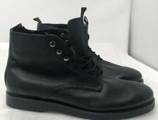 H by Hudson Black Leather Chukka Boots  Mens Size 45