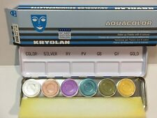 Kryolan 1147 Aquacolor 6 Color Makeup SchminkPalette BBB Palette New