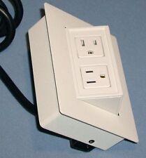 Byrne BE02137 Flush Mount Recessed Desktop Power Distribution Strip Outlet Jack