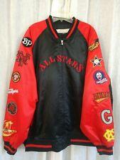Negro League All Stars Baseball Team Satin Bomber Varsity Jacket JC Freeman 4X