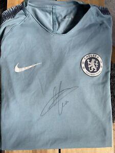 Eden Hazard Training Worn & Signed Chelsea Training Shirt Top 2018/19