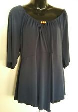 Womens Plus size 20 navy UndercoverWear top stretchy faux wrap