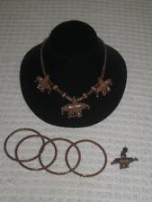 Lot UNIQUE Vintage Copper Jewelry Bracelets Earring Necklace L@@K