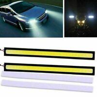 2STK Super Bright COB White Car LED Lights 12V For DRL Driving Fog Lampe O2 U0D7
