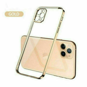 For iPhone 12 Pro Max 11 XR X 7 8 SE 2020 Plating Soft Silicone Clear Case Cover