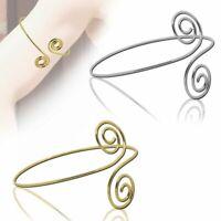 Armreifen Spiralen Silbern Golden Armband Oberarmreif Bangle Accessoires Vintage