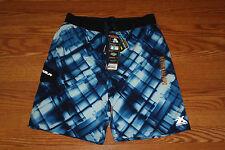 NWT Mens ZeroXposur White Navy Black Swim Trunks Board Shorts Swimsuit S Small