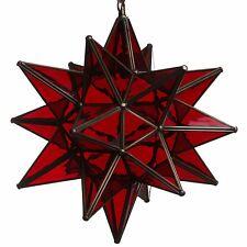 15 Inch Red Glass Star Light