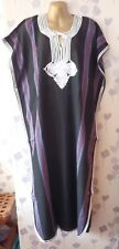 "LADIES DJELLABA / KAFTAN / LONG DRESS BLACK 54"" WIDE x 52"" LONG"
