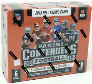 2019 PANINI CONTENDERS FOOTBALL HOBBY 12 BOX CASE Sealed 🔥RC's: Kyler Murray
