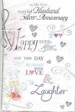 Silver Anniversary Card For Husband. On Our Silver Anniversary.