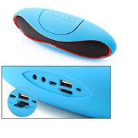 Enceinte sans fil Bluetooth Portable Radio FM USB Lecteur de carte LED / Bleu