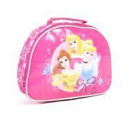 Disney 3 Princesses Cinderella Belle Aurora Pink Kids Insulated Lunch Bag Box