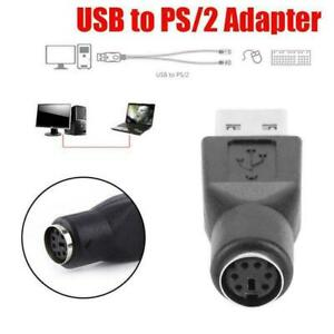 For PS2 Female to USB Male Converters Connectors Adapter Mouses For PC C6W8