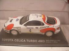 Voiture IXO ALTAYA 1/43 TOYOTA CELICA TURBO 4WD Rally Catalunya 1992 C.Sainz