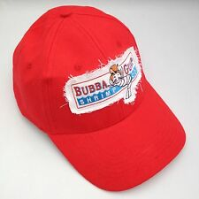 Bubba Gump Shrimp Embroidered  Baseball Cap Red.