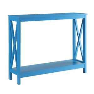 Convenience Concepts Oxford Console Table, Blue - 203099BE