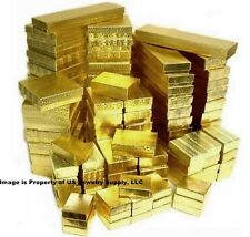Wholesale 1000 Assorted Asst Size Mix Gold Cotton Fill Jewelry Gift Boxes