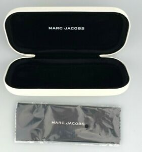 Marc Jacobs Sunglasses Case Only White Clamshell Hardcase Eyewear w/ New Cloth