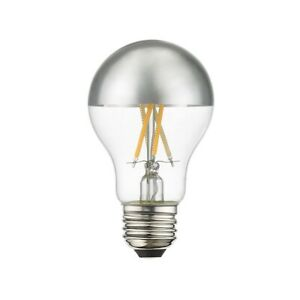 Livex Pack of 10, A19 Pear Filament LED Bulbs, Silver Top Clear - 960836X10