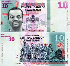 Swaziland 10 Emalangeni Banknote World Paper Money Unc Currency Pick p41a 2017